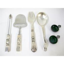 Collection of Danish silver flatware, Georg Jensen, Copenhagen, 20th century