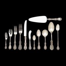 Sterling silver 'Francis I' pattern partial flatware service, Ernest Meyers for Reed & Barton, Taunton, MA, 1907