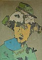 ANTONIO QUIRÓS, (SPANISH, 1912-1984), HOMBRE CON SOMBRERO VERDE