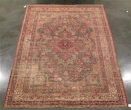 Laver Kerman carpet, southwest persia, circa late 19th century,
