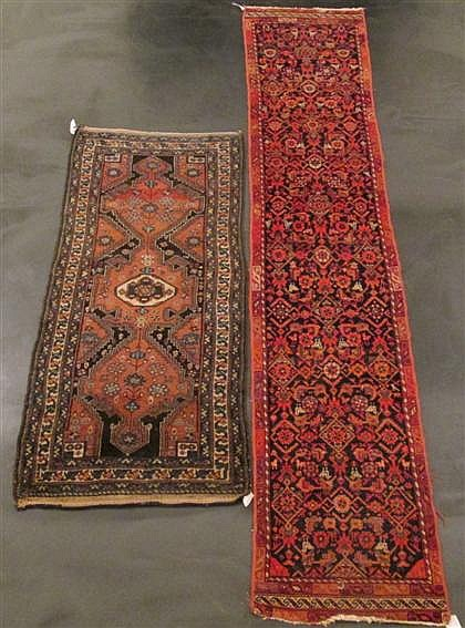 Two Hamadan runners, west persia, circa 1900,