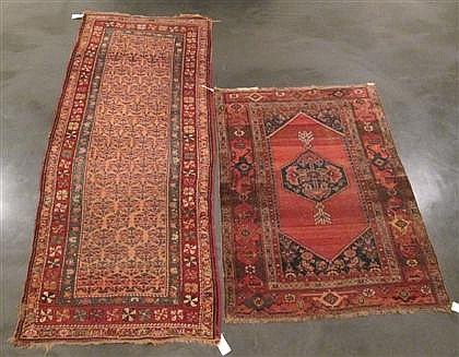 Two Kurdish carpets, west persia, circa late 19th century,