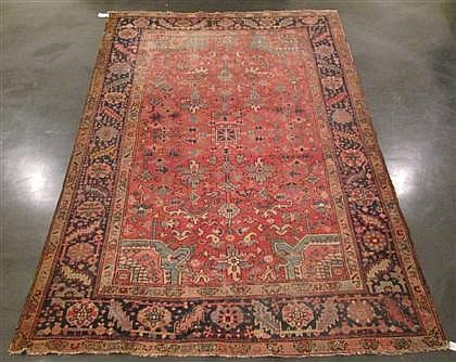 Heriz carpet, northwest persia, circa 1920,