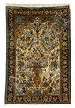 Silk Qum prayer rug, central persia, circa 2nd half 20th century,