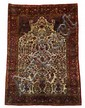 Silk Kashan prayer rug, central persia, circa 1920,