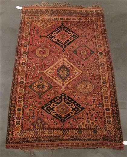 Shiraz rug, southwest persia, circa 1900,