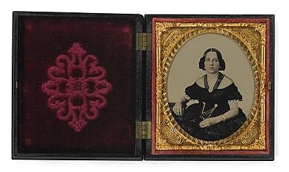 GROUP OF 30 CASED IMAGES DEPICTING MEN AND WOMEN, ,