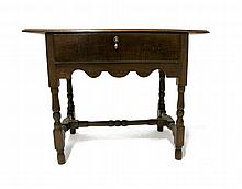 William and Mary-style oak tavern table, 19th century,