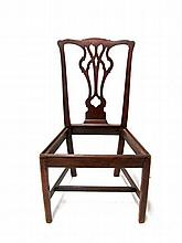 Chippendale mahogany side chair, philadelphia, late 18th century,