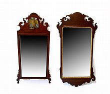 Two Chippendale mirrors, late 18th century,