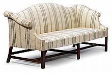 Chippendale mahogany camel back sofa, 19th/20th century,