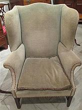 Chippendale wingback chair, 20th century,