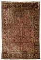 Silk Kashan meditation rug, central persia, circa 1920,