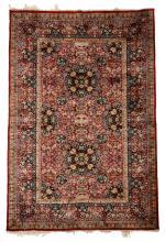 North Persian silk rug, circa 2nd half 20th century,