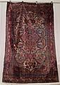 Silk Kashan rug, central persia, circa 1920,