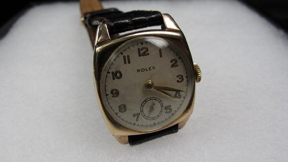 Late 1920's Rolex Cushion Gentleman's Watch 9k