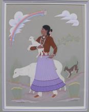 Original Tempera Painting Harrison Begay Navajo Artist