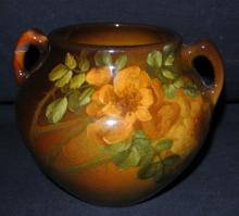 Hurley Hand Painted Rookwood 906D Roses Vase