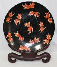 Large Chinese Export Charger w/Hand Painted Coy