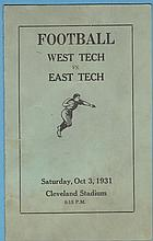 Program For the First Football Game Cleveland Stadium 1931