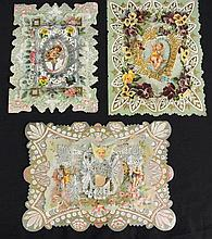 (11)Victorian Era Die Cut & Lace Valentines