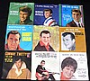 Group of 45 RPM Records with Picture Sleeves