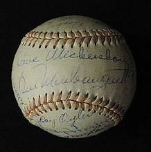 1966 Detroit Tigers Autographed Baseball (29)Signatures