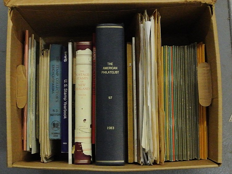 Large Carton of Misc. Philatelic Literature