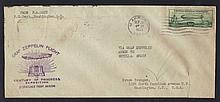 1933 Graf Zeppelin Flight Cover w/C18 Franking