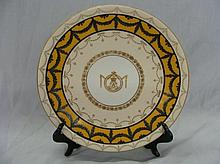 1903 Royal Worcester Charing Cross Cabinet Plate
