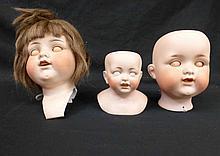 3 Bisque German Doll Heads Kiddie Joy AM JDK