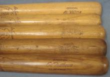 Lot of (5) Vintage Player Model Bats w Kaline and Reese
