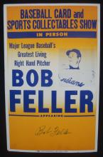 Bob Feller Signed 14x22 Autograph Session Poster