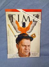 Hank Bauer Autographed Time Magazine Cover 9-11-1964 LOA from JSA