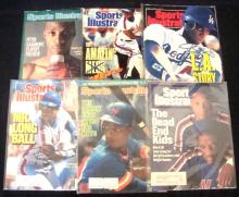 Darryl Strawberry Autographed Sports Illustrated Magazine Lot of (6)
