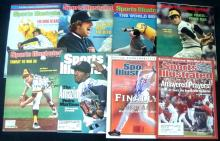 Lot of (8) Signed 1970's+ Sports Illustrated Baseball Issues