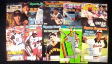 Lot of (10) Autographed Sports Illustrated Baseball Issues