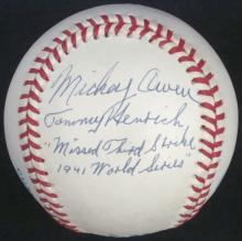 Mickey Owen & Tommy Heinrich Dual Signed