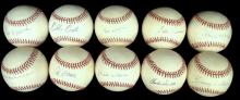 Lot of (10) Single Signed Baseballs by Old Timers and Pitchers