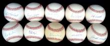 Lot of (10) Single Signed Baseballs Signed by All-Stars