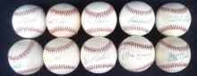 Lot of (10) Single Signed Baseballs by World Series Champs
