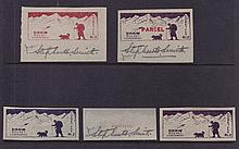 Stephen Smith Signed Rocket Mail Labels