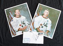 Pair of U.S. Astronauts Duke & Cernan Signed Items
