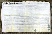 1843 Signed Indenture for Philadelphia Property