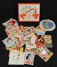 Small Box of 1920-40's Era Valentines