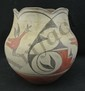 Zia Pottery Pot with Scalloped Top by Sophia P. Medinadiameter
