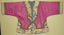 Late Qing Dynasty Gold Silk Thread Embroidered Jacket