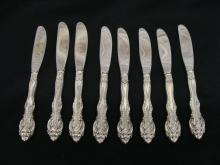Gorham Sterling La Scala 8 Butter Spreaders Hollow Handle