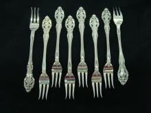 Gorham Sterling La Scala 8 Cocktail Forks