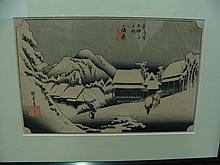 Ando Hiroshige, Japanese, 1797-1858, Colored Woodblock